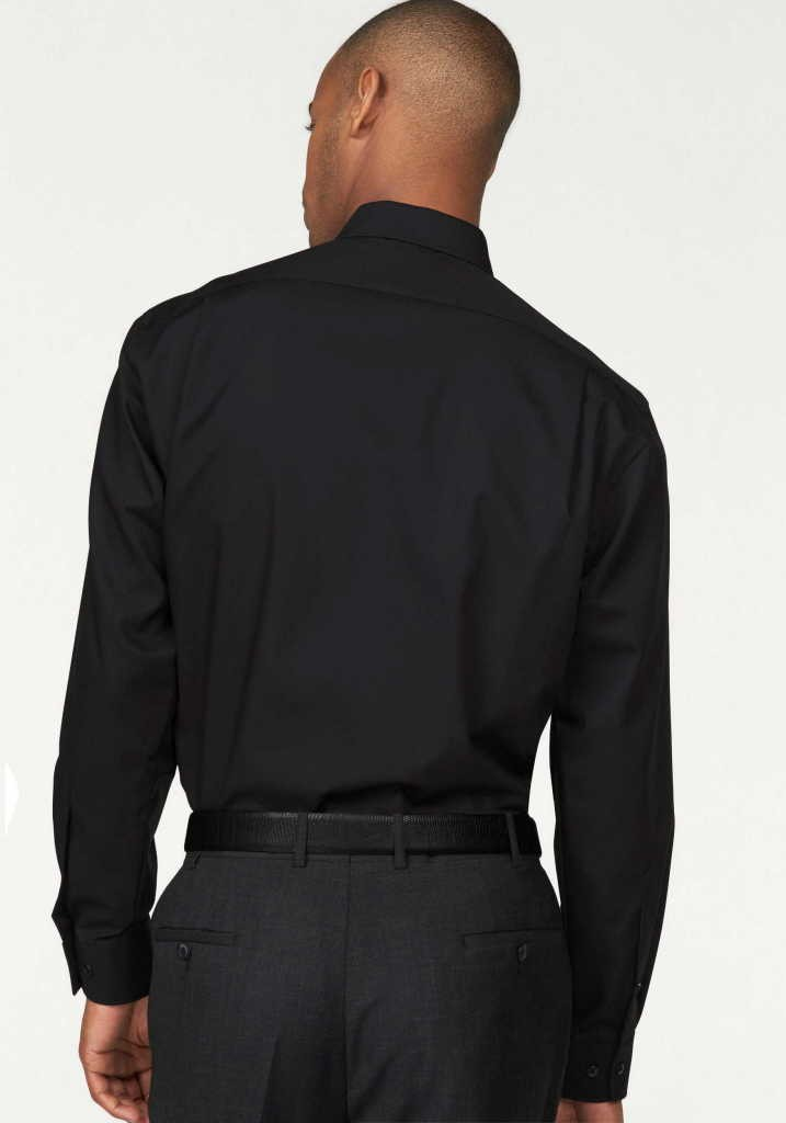 Olymp Langarm Business Hemd Männer 030064-68 sch schwarz |... schwarz z70imj