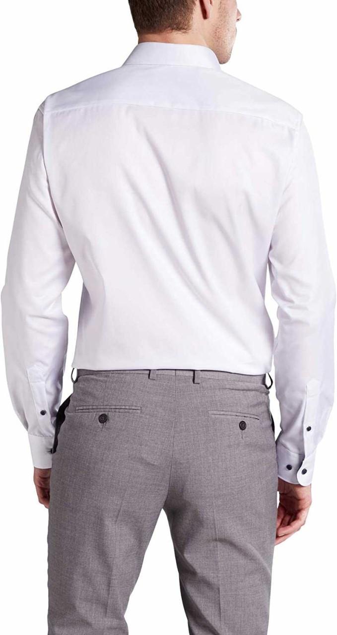 Eterna Langarm Business Hemd Männer 8819 F142 Weiß