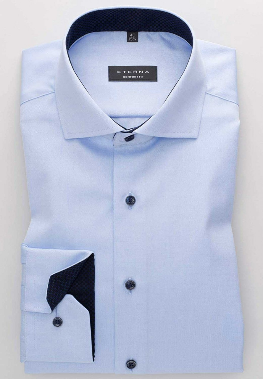 Eterna Langarm Business Hemd Männer 8819 E15v Hellblau